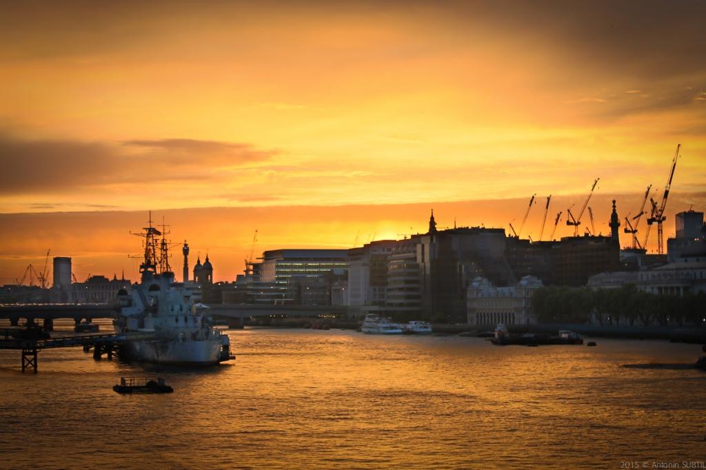 Vue de Tower Bridge - sunset